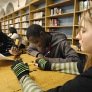 """Students contemplate their stories • <a style=""""font-size:0.8em;"""" href=""""http://www.flickr.com/photos/78140644@N03/7160933544/"""" target=""""_blank"""">View on Flickr</a>"""