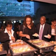 """Guests eating hors d'oeuvres • <a style=""""font-size:0.8em;"""" href=""""http://www.flickr.com/photos/78140644@N03/7160932540/"""" target=""""_blank"""">View on Flickr</a>"""