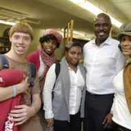 "Solomon with students at Southern • <a style=""font-size:0.8em;"" href=""http://www.flickr.com/photos/78140644@N03/7160934774/"" target=""_blank"">View on Flickr</a>"