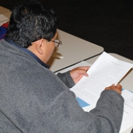 "A parent reads at the workshop • <a style=""font-size:0.8em;"" href=""http://www.flickr.com/photos/78140644@N03/7160934218/"" target=""_blank"">View on Flickr</a>"